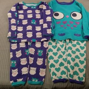 Girls just one you  pajamas sets size 18M
